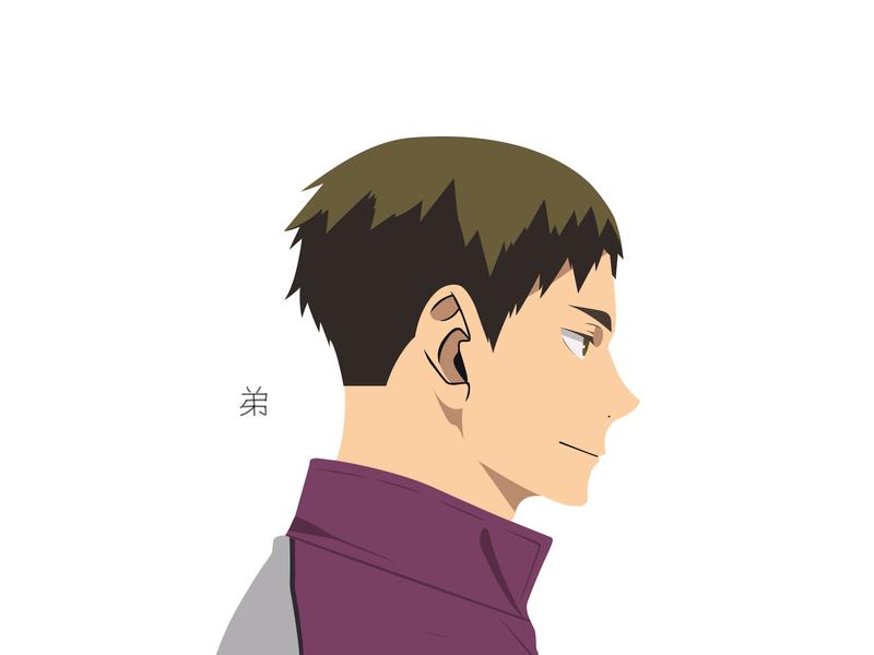 Illustration | Wakatoshi Ushijima wakatoshi ushijima haikyuu!! haikyuu manga portrait illustration portrait character challenge anime illustrator illustration