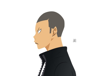 Illustration | Ryūnosuke Tanaka tanaka karasuno volleyball haikyuu!! haikyuu manga portrait illustration portrait character challenge anime illustrator illustration