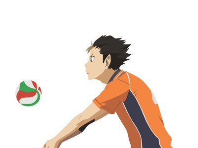 Illustration | Yū Nishinoya nishinoya yu haikyuu!! haikyuu manga portrait illustration anime portrait character challenge illustrator illustration