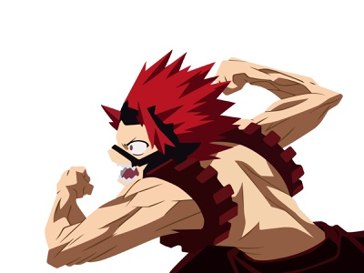 Illustration | Eijiro Kirishima red riot quirk kirishima eijiro boku no hero academia my hero academia manga portrait illustration anime portrait character challenge illustrator illustration