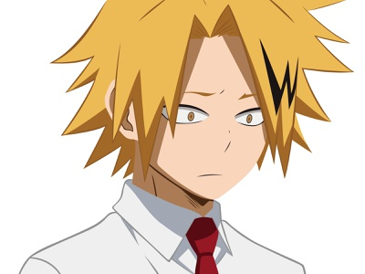Illustration | Denki Kaminari kaminari denki my hero academia boku no hero academia manga portrait illustration anime portrait character challenge illustrator illustration