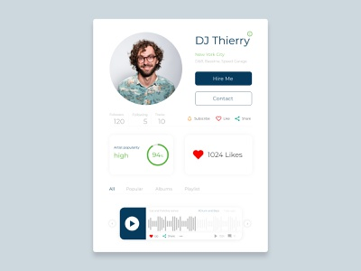 User Profile DailyUI 006 user profile dailyui 006 userprofile dailyui ux ui adobexd adobe xd