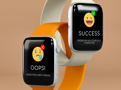 Flash Message DailyUI 011 dailyui 011 dailyui adobexd ux ui smartwatch success error flash message