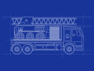 1-Truck Blueprint Illustration