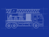 1-Truck Blueprint Illustration