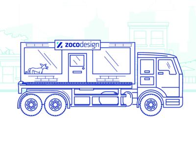 1-Truck ZoCo Design Illustration