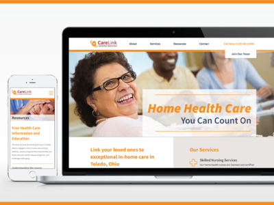CareLink Website Design