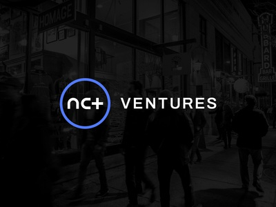 NCT Ventures Logo photo branding typography digital app fintech healthtech tech circle sanserif modern navy black blue color vibrant startup logo logo venture capital