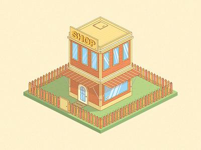 Isometry House illustrator shop brest ai illistration isometry