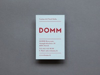 DOMM Business Card