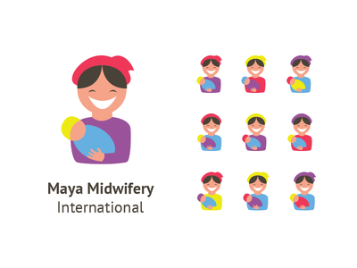 Midwifery Logo Attempt midwifery midwife logo health hospital baby mother maternal bright colors