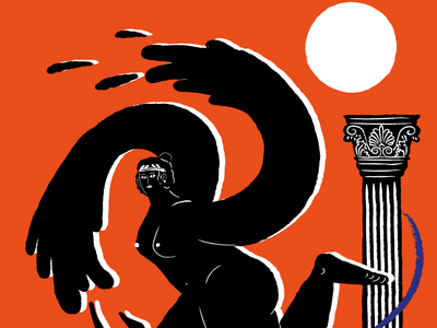 Metamorphosis 2 colours drawing illustrator illustration