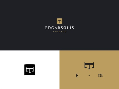 Edgar Solís Lawyer brandidentity design logotype brand identity branding logo monogram minimal mark icon minimalism simple