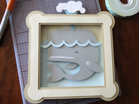 Out of the Box Animals: Whale Paper Cut Original Art