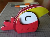 Happy Bird Layered Paper Sculpture