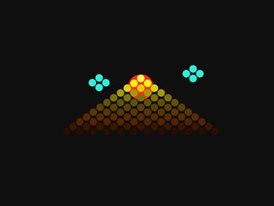 Nature لوگو، برند، mountain sun nature illustration logotype designe vector icon app brand logo