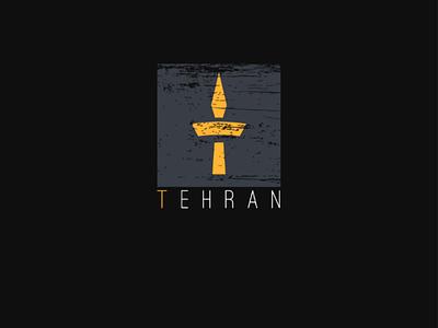 Tehran برند، تهران، vector لوگو، brand icon app logo