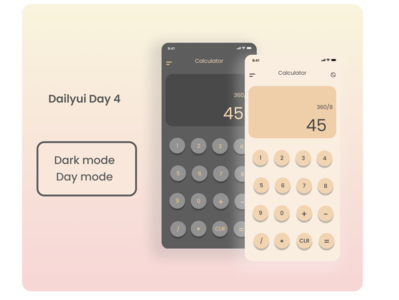 Calculator App  design mobile screens designoob ux uiux iphonexs dailyuiday4 dailui4 simple daymode darkmode calculator