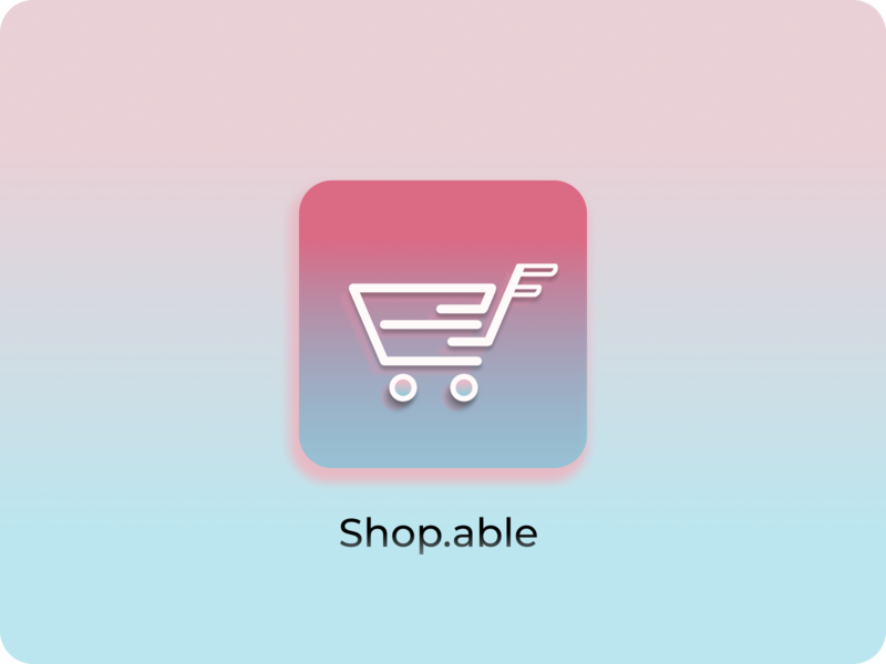 Shop.able app icon app uiux identity dailyuiday5 dailyui ux vector branding design logo mobileapp mobileuiux icons icon