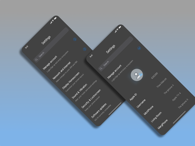 Dark Mode Setting #Dailyui uiux mobileapp app ui settings apple dailyuichallenge iphone dailyuiday7 dailyui