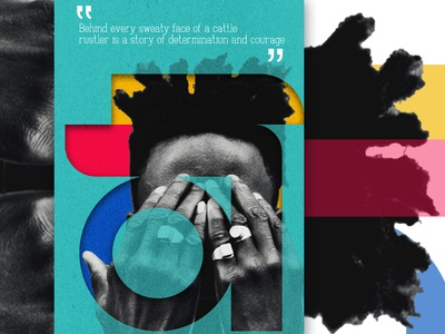 WearBlack (HiddenFace) powerful daily new bold creative concept colorful blackagenda poster art african africa posters blackskin 2021trend african woman black lives matter poster design