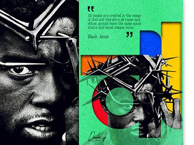 BlackJesus blackmind talents ghana promote dailyposter grapicdesign inspiring creative religion jesus new poster design african art 2021trend blackskin poster a day black lives matter africa