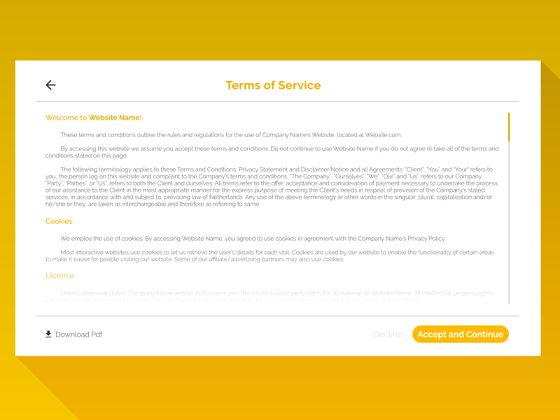 #2 - Terms of Service Page UI | 7 Days UI Challenge design terms and conditions terms of service terms web ui  ux ui challenge daily dailyui