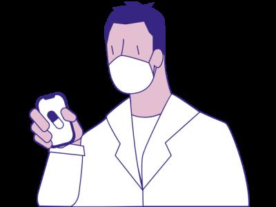 Healthcare Worker professional medical ux ui illustration