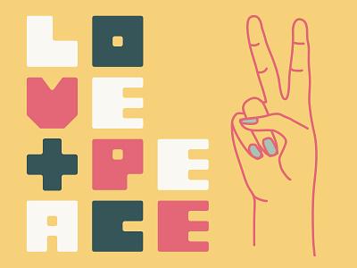 Love + Peace urban art urban yoga studio urban retro design branding vector illustrator art retro illustrator illustration branding design yoga branding design yoga studio yoga
