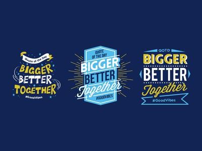 QOTD Typography T-Shirt Designs