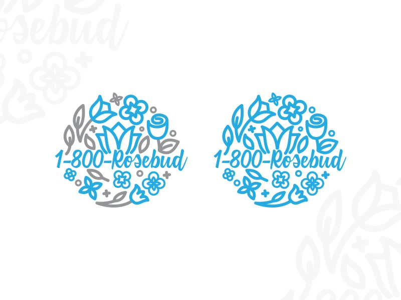 #5 Rosebud - flower shop logo design typo typography graphidesign dailydesign design logo branding thirtylogos