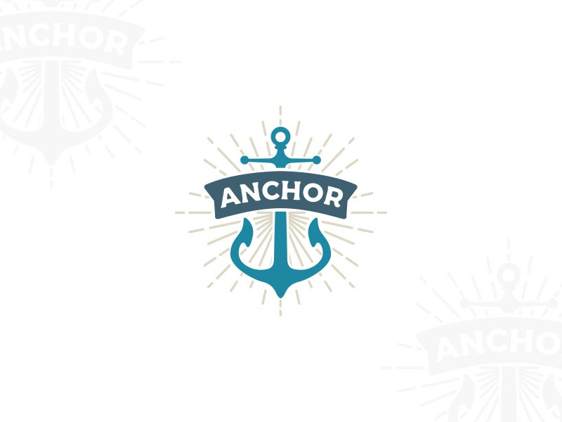 anchor logo design typo typography graphidesign dailydesign design logo branding thirtylogos
