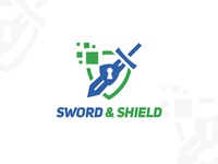 sword & shield logo design