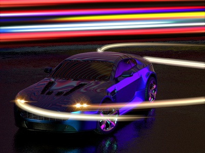 Aston Martin Light Paint