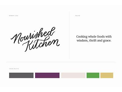 Nourished Kitchen Branding logo branding hand-lettered clean food blog brand