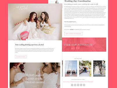 As You Wish: Wedding Planning Agency Website wedding feminine clean site logo branding web design