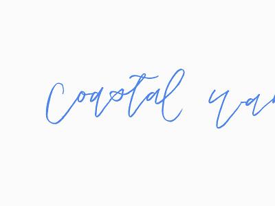 Coastal Wandering Logo Concept hand-lettered brand logotype minimalist branding clean simple