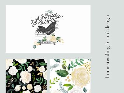 Living Bridge Acres lush feminine brand branding floral