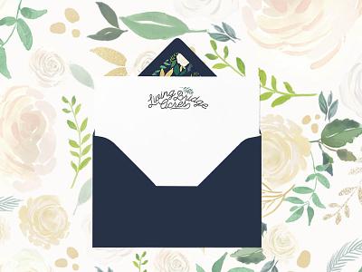 Living Bridge Acres feminine brand branding floral lush