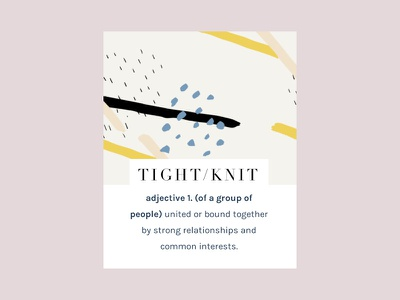 Tight Knit Welcome Box colorful abstract site web design brand branding artistic feminine lifestyle blog
