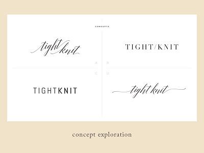 Tight Knit minimalist clean concepts branding brand feminine lifestyle blog