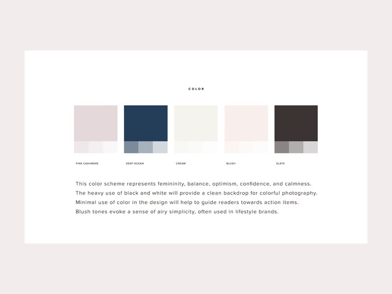 Tight knit color scheme by shay bocks dribbble color scheme for feminine lifestyle blog ccuart Choice Image