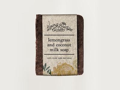 Living Bridge Acres Soap Packaging brand feminine branding packaging product design