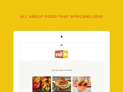 Yajibox Responsive Website bright clean web design mobile site website brand food blog