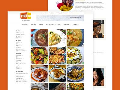Yajibox Website Design & Development bright clean web design mobile site website brand food blog
