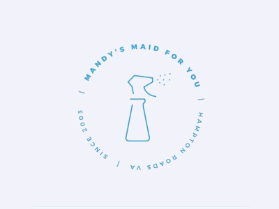 Mandy's Maid For You Badge line minimal services logo badge clean branding