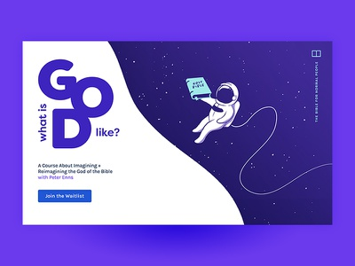What Is God Like? Landing Page for Online Course spirituality universe branding design branding landing page.