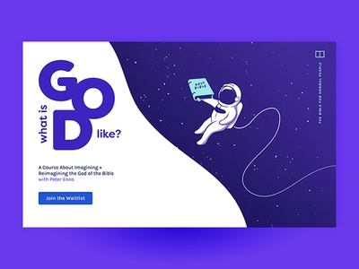 What Is God Like? Landing Page for Online Course