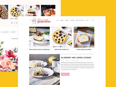 Grain Free Food Blog Design feminine branding design blog food blog branding agency clean branding guide
