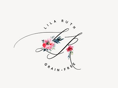 Lila Ruth Grain Free Logo branding design floral feminine blog food blog logo branding
